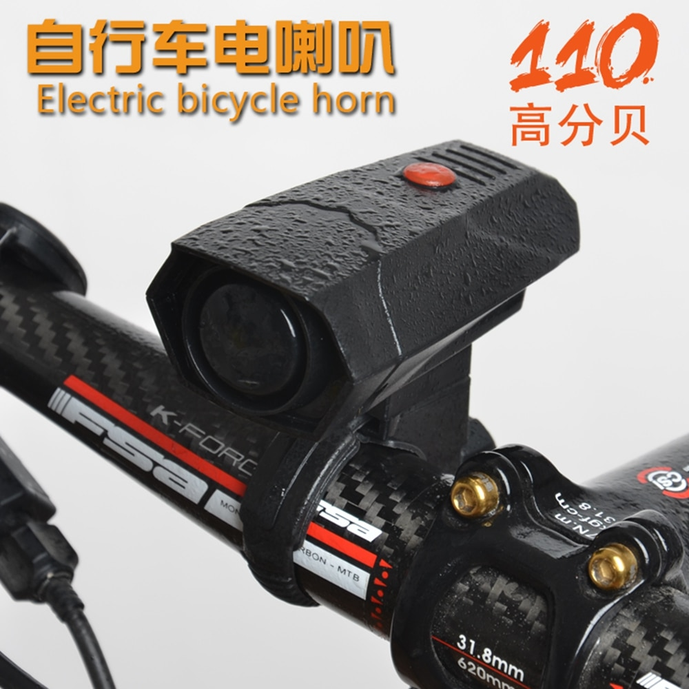 Bicycle Bell Cycling Horns Electronic Bike Bicycle Handlebar Ring Bell Horn Strong Loud Air Alarm Bell Sound Bike Horn Safety недорого