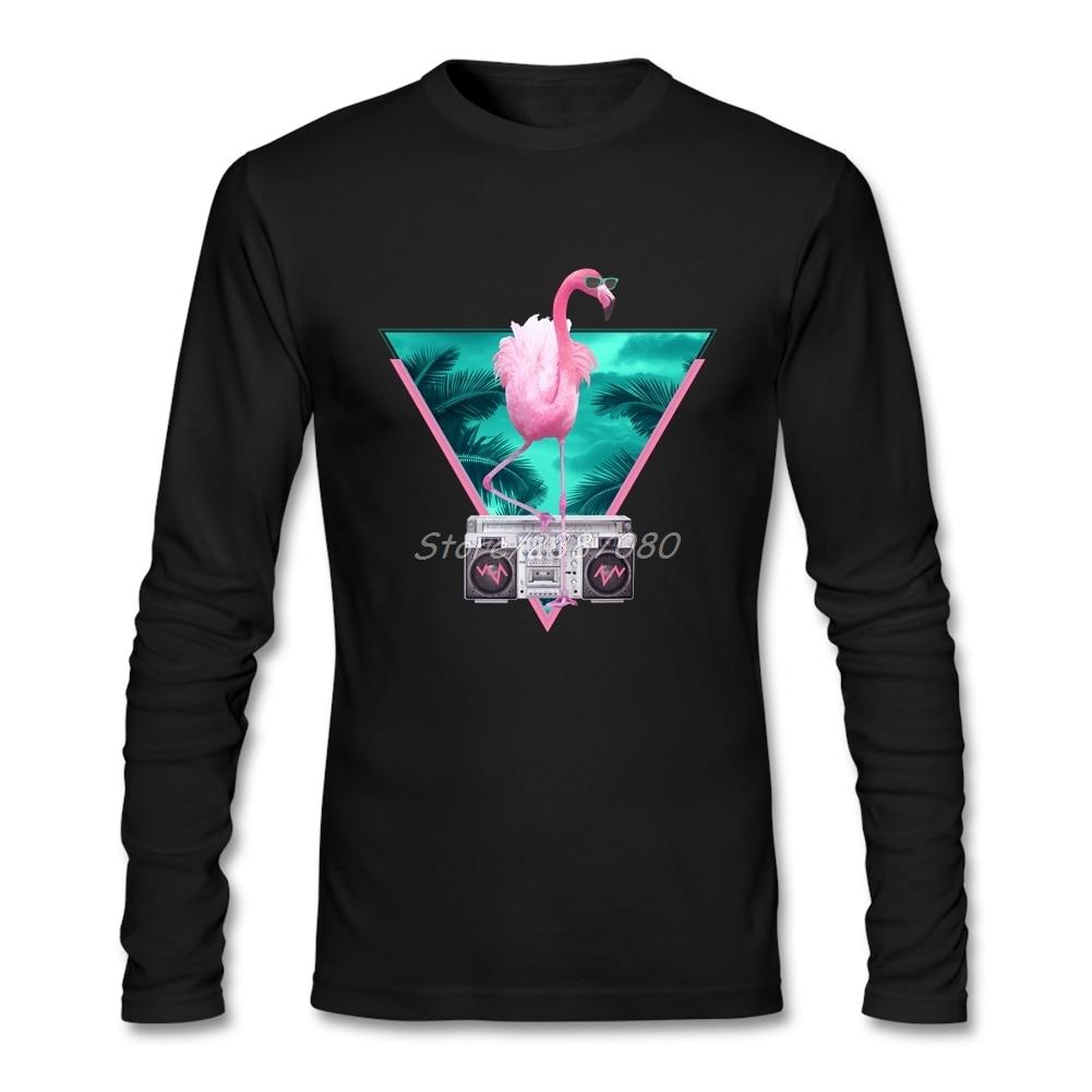 Camiseta personalizada de manga larga de Miami Flamingo para hombres, marca Pp, camisetas de algodón para niños