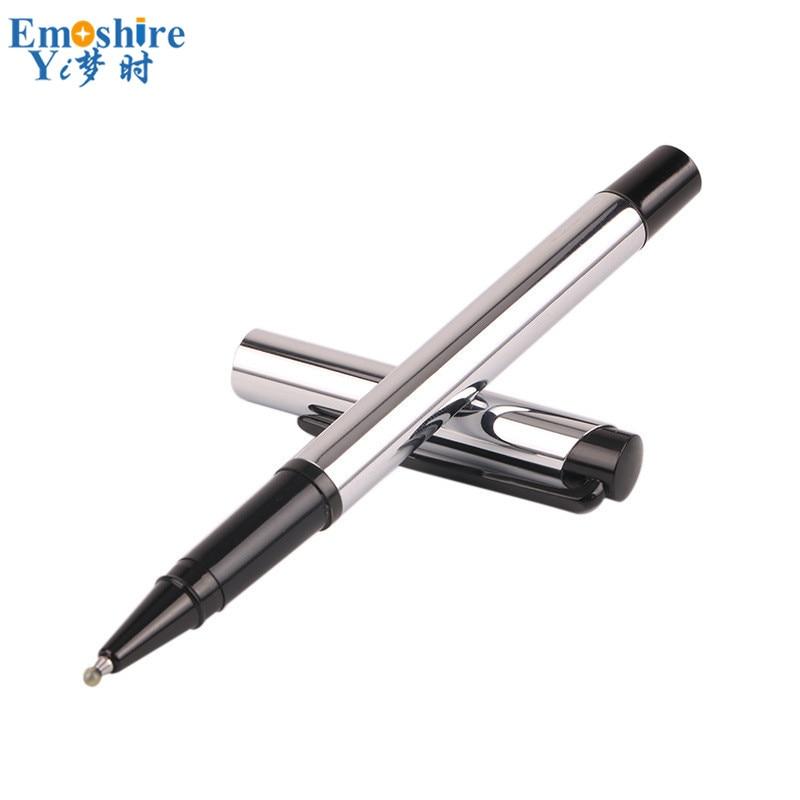 ¡Venta al por mayor! bolígrafos de Gel de plata brillante de Metal bolígrafos de bolígrafo Orb Regalos publicitarios firma pluma personalizada logotipo barato P697