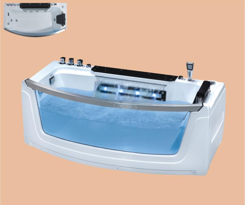 1700mm Fiberglass whirlpool Bathtub Acrylic Hydromassage Waterfall Tub NS3034