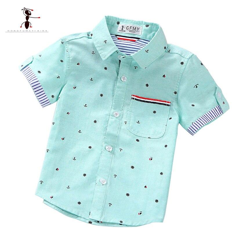 Kung Fu Ant/брендовые оригинальные весенне-летние модные рубашки с принтом для мальчиков повседневные рубашки Camisa Masculina для детей, детская одежда