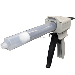 Epoxy Adhesive Gun 55cc 55ml Cartridges Manual Single Component Adhesive Applicator Gun + Glue Liquid Dispenser Syringe Barrel