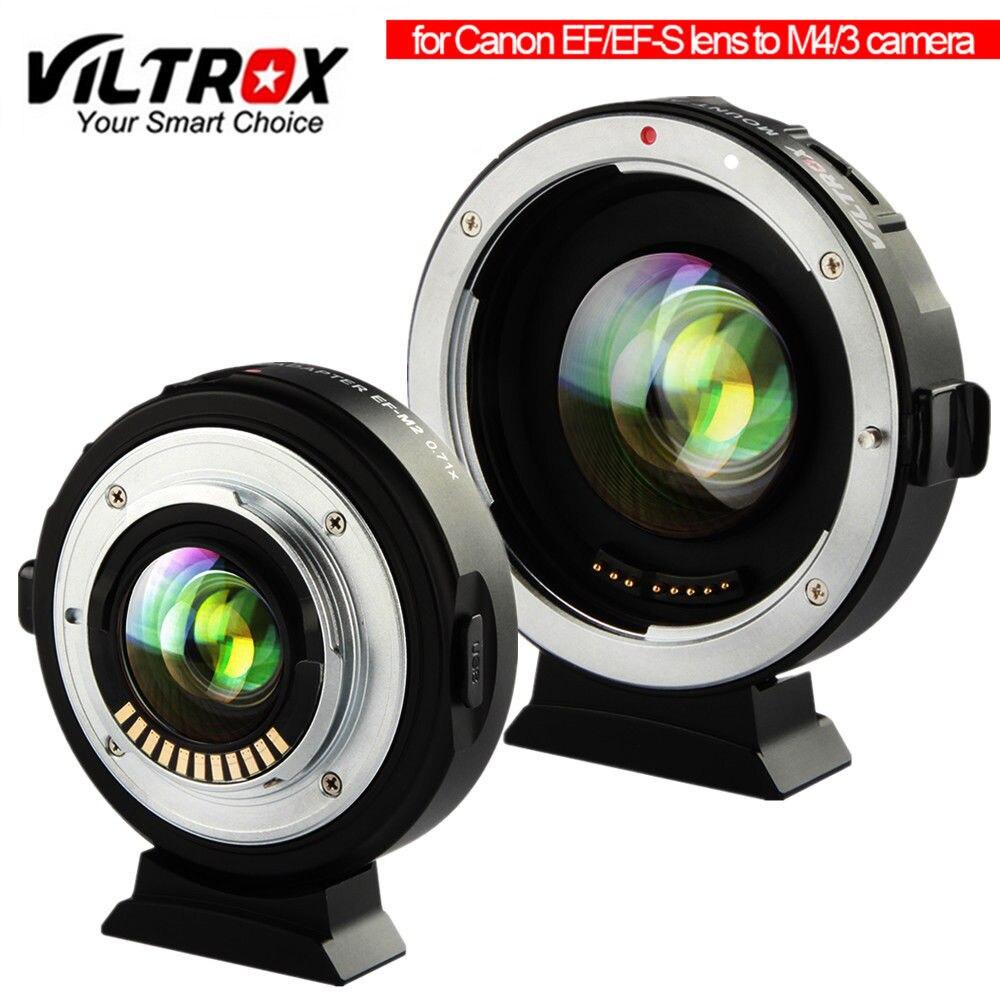 Viltrox EF-M2 Ii 自動焦点ガラスレンズにキヤノン ef レンズ用マウントアダプタリング 0.71x MTF M4/3 GH5 用/4/3 GF8 omypus EM10