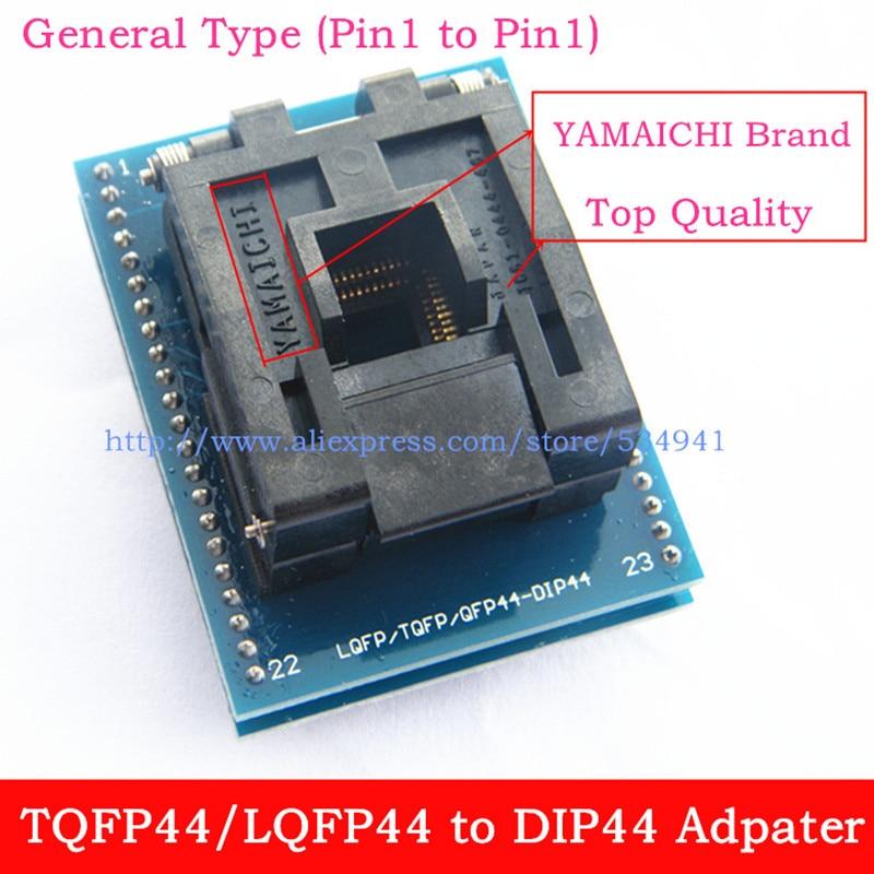 Адаптер типа pin1 to Pin1, QFP44, TQFP44, LQFP44 к DIP44, программатор, IC тестовый адаптер, Бесплатная доставка