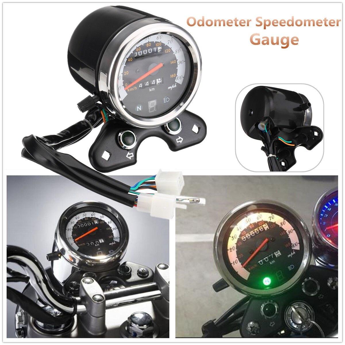 Odómetro de motocicleta velocímetro tacómetro indicador de velocidad para corredores de café Suzuki