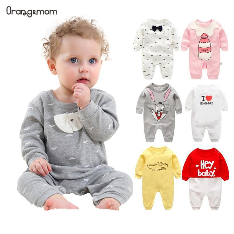 ¡Primavera-otoño 2020! Ropa de algodón de manga larga para bebé, ropa para bebé, barba de dibujos animados, caballero, bebé, mameluco Infantil