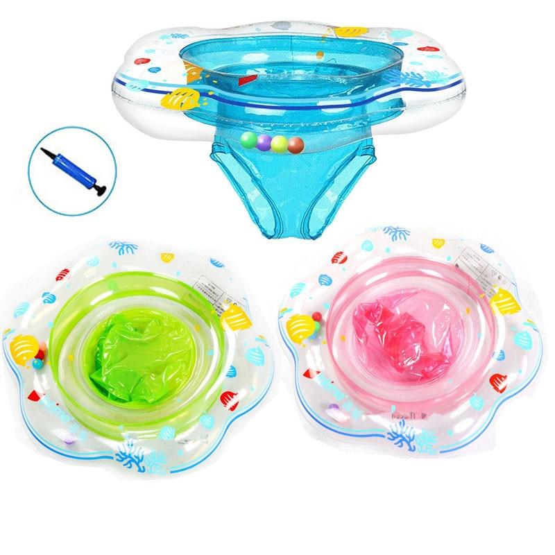 Flotador inflable para bebés con forma de anillo circular para niños en la cintura, flotador de anillo para piscina, juguetes de piscina al aire libre, accesorios de piscina para fiesta
