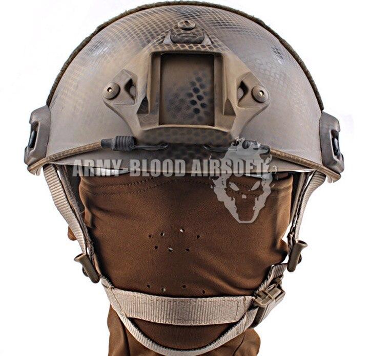 Sello versión personalizada del casco balístico rápido casco táctico de Reacción Rápida (placa de sellos de EE. UU.)