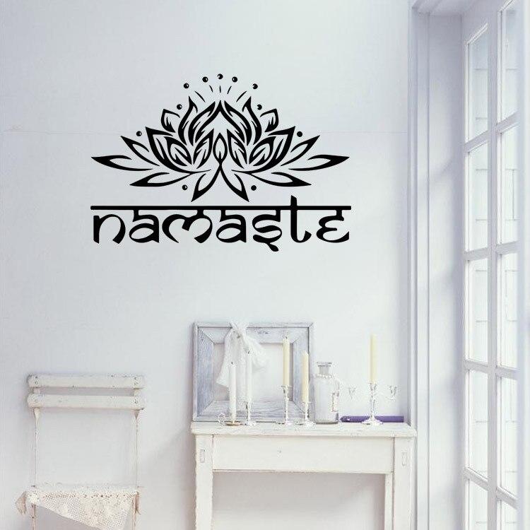 Виниловые наклейки Lotus Ganesha, наклейки на стену, домашний декор, съемные художественные обои для гостиной, сделай сам