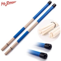 blue drum rute sticks brushes drumsticks rods customized musical colorful thunder rod with percussion instruments accessories