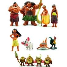 12 pz/lotto Moana Maui Capo Tui Sina PVC Action Figures Gramma Tala Heihei Statua Figurine Anime Bambole Per Bambini Giocattoli per bambini