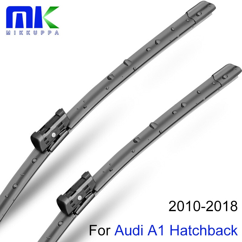 Lâminas de limpador dianteiras e traseiras de mikkuppa para audi a1 hatchback 2010-2018 pára-brisas de borracha natural acessórios do carro automóvel