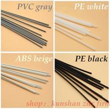 4 tipos de pp/abs/pe/pvc material plástico haste de solda carro/tubulação/folha de plástico soldagem de cinza/branco/preto/bege 20 pces