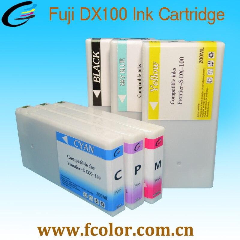 200 мл картридж для Fujifilm Frontier-S DX100 Замена чернильного картриджа 60 шт. в партии Бесплатная доставка