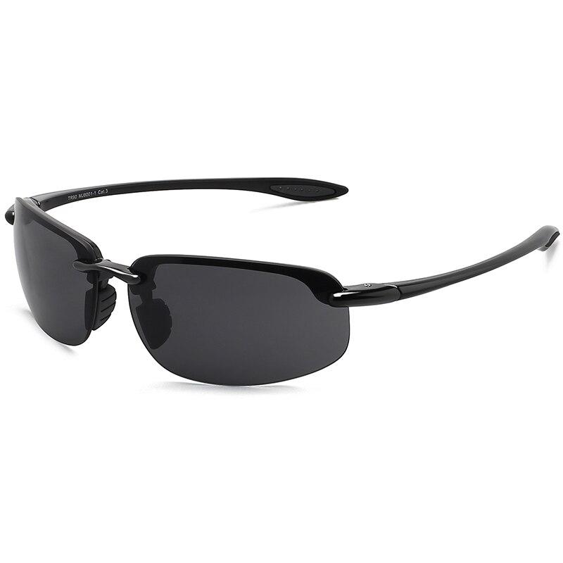 JULI Classic Sports Sunglasses Men Women Driving Running Rimless Ultralight Frame Sun Glasses Male UV400 Gafas De Sol MJ8001