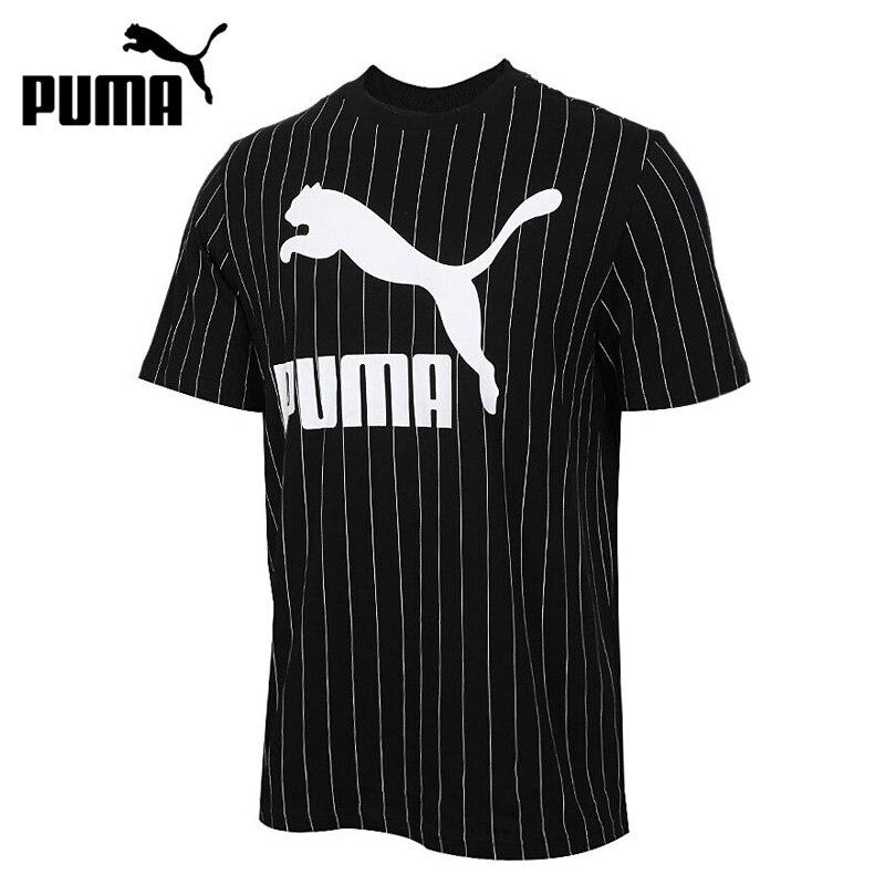 Novedad Original, camiseta AOP a rayas de PUMA, camisetas para hombre, ropa deportiva de manga corta