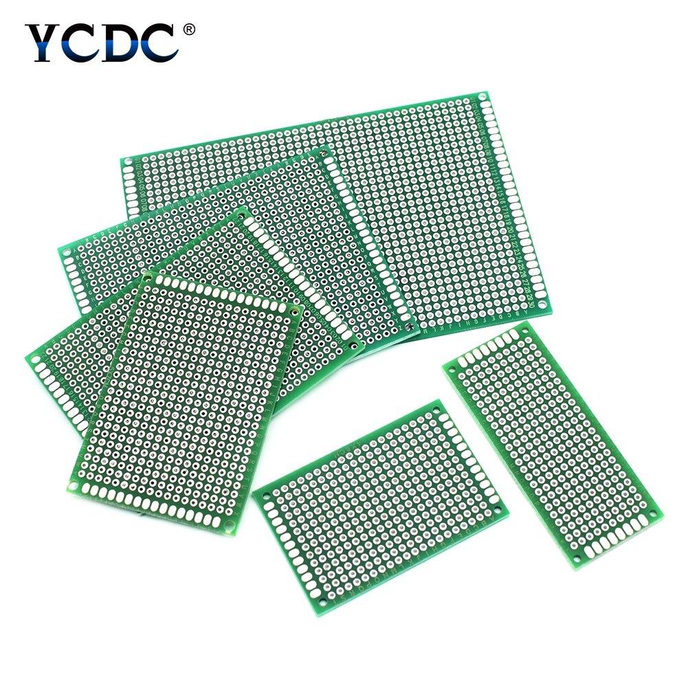 5 uds 2x8 3x7 4x6 5x7 6x8 7x9 8x12cm doble lado prototipo Diy universal impresa circuito PCB Placa de prototipos para bricolaje Arduino