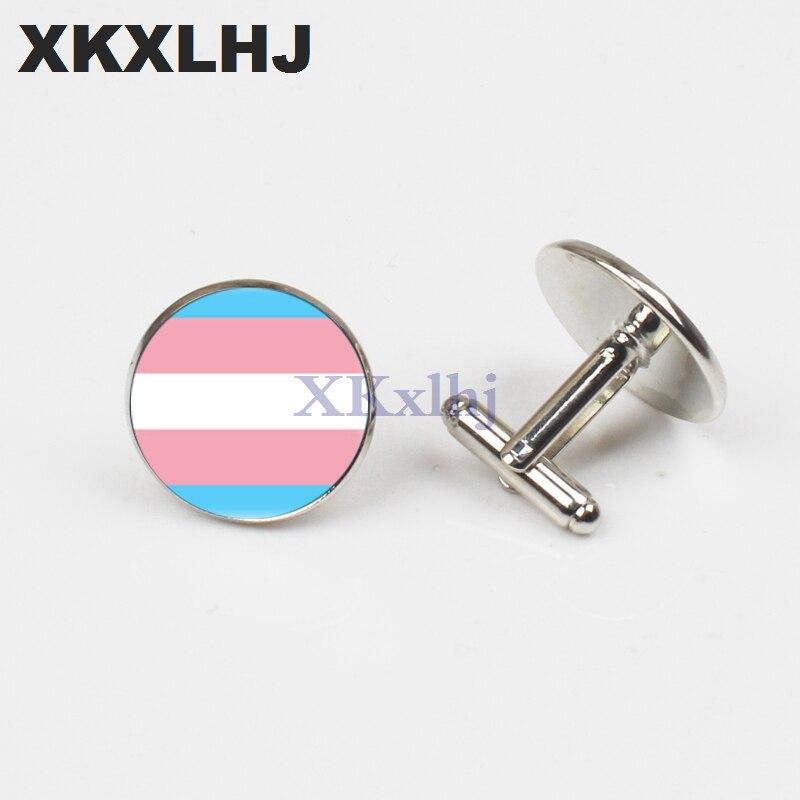 XKXLHJ, nuevo orgullo transgénero, gemelos redondos, arte, gemelos de buena calidad, accesorios de joyería hechos a mano, 2018