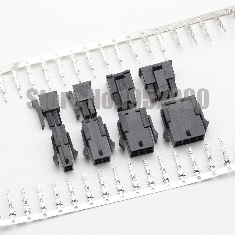 50 juego de Conector Micro-Fit 3,0mm de paso 5557/5559 zócalo 2/4/6/8/10/12/14/16/18/20/22/24P carcasa macho + carcasa hembra + terminales