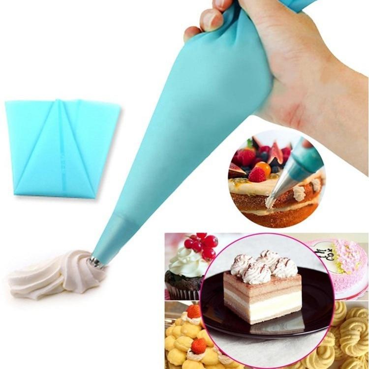 Portátil reutilizable de glaseado de bolsa de crema pastelera torta DIY decorating herramienta para la cocina