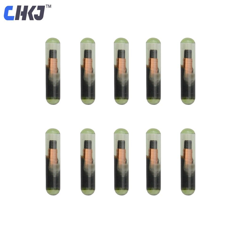 Chkj 10 pçs/lote nova chave do carro transponder id48 t6 criptografia desbloqueado chip para vw audi seat skoda porsche serralheiro suprimentos