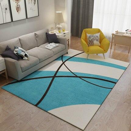 سجادة مخططة إسكندنافية تجريدية ، لغرفة المعيشة ، طاولة القهوة ، غرفة النوم ، السرير ، المنزل ، مستطيل