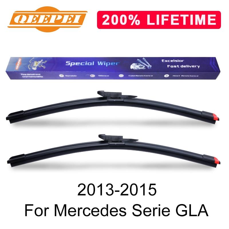 Escobilla limpiaparabrisas QEEPEI de repuesto para Mercedes Serie GLA 2013-2015, limpiaparabrisas de goma de silicona, accesorios para automóvil