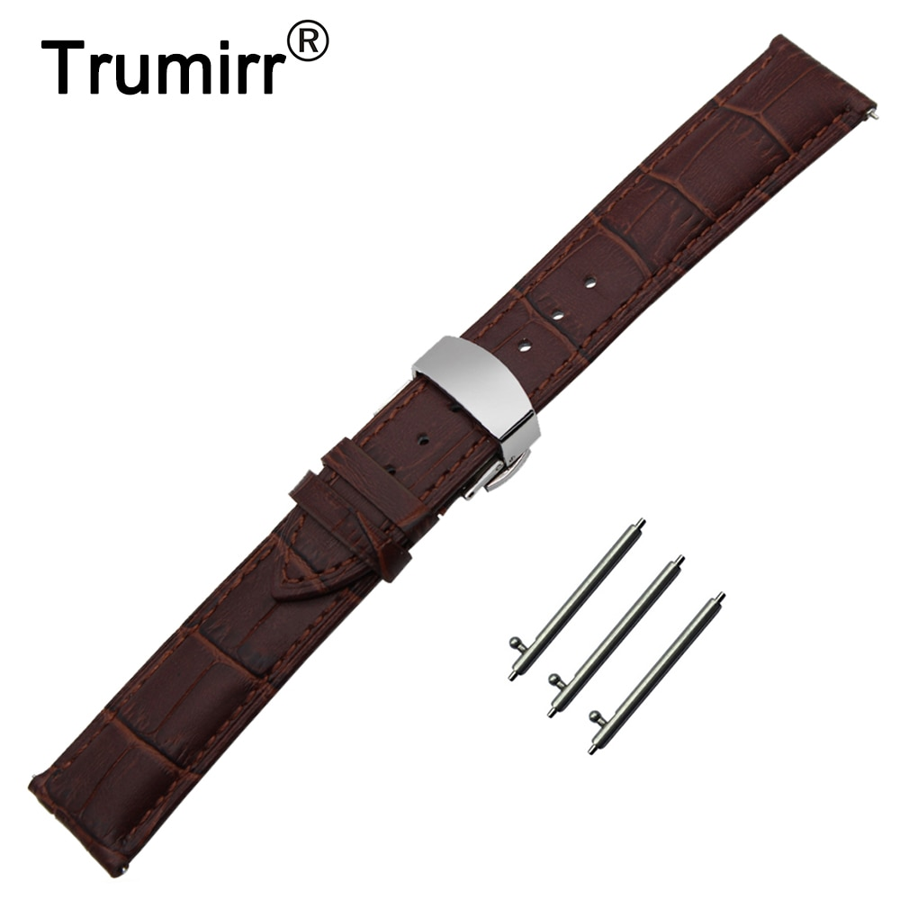 22mm primeira camada pulseira de relógio de couro genuíno para o vetor luna/meridian, para xiaomi smartwatch huami amazfit pulseira de cinto de pulso