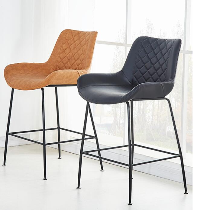 Nordic bar chair leisure family modern simple creative iron bar chair before the table network red coffee stool high quality 42cm 62cm 72cm nordic bar stool bar chair creative coffee chair gold high stoolgolden modern leisure metal chair
