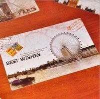 9 Pcs DIY a nostalgic postcard scenery Creative Cards Greeting Cards