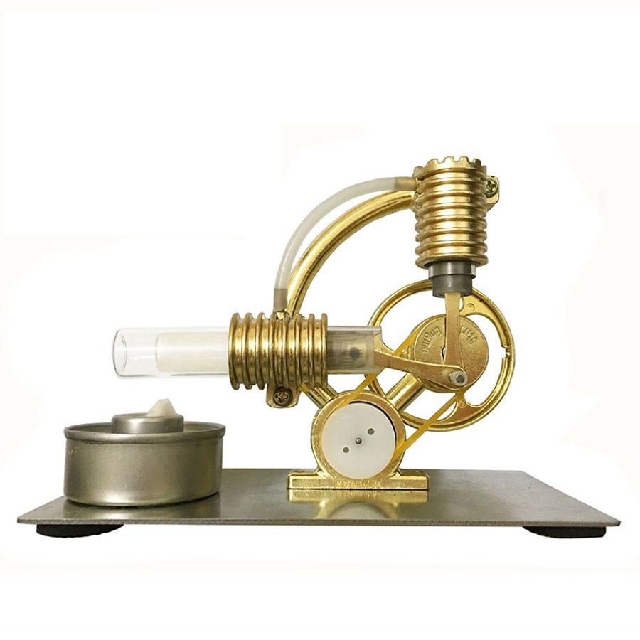 Hot Air Heating Stirling Engine Motor Generator Model Science Education Toy Kit stirling engine generator engine micro engine model steam engine hobby birthday gift