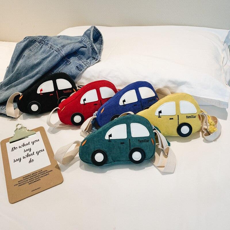 ¡Moda 2019! monedero de pana para niños, bolso de mensajero de dibujos animados con cremallera para coche, monedero pequeño bonito para niños, bolso accesorio para niños para niñas
