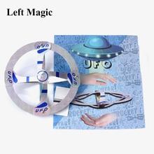 Ufo Drijvende Fly Goocheltrucs Mystery Mid Air Fly Schotel Ufo Magic Props Outdoor Grappig Speelgoed Voor Kinderen Gift Close up Stage Magic