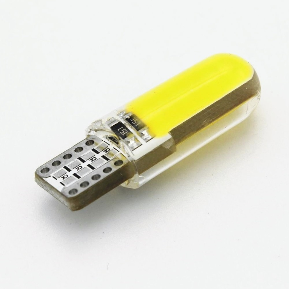 ANBLUB силиконовый светодиодный светильник для салона автомобиля 12В T10 W5W клиновидная боковая парковочная лампа габаритный светильник COB светодиодный сигнальная лампа для автоматического чтения
