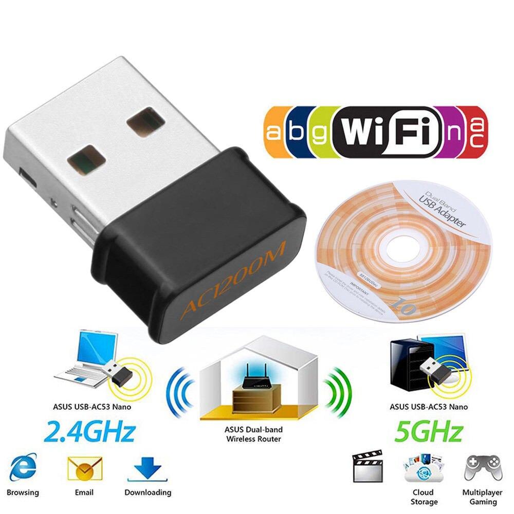 1200 Мбит/с мини USB Wifi сетевая карта двухдиапазонный Wifi адаптер 2,4G/5,8 GWireless AC адаптер для Windows XP/Vista/7/8/10 Mac OS
