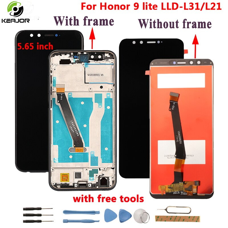 Para Huawei Honor 9 Lite pantalla LCD + pantalla táctil + marco probado digitalizador montaje Pantalla de repuesto para Honor 9 Lite LCD