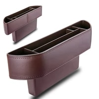 car seat crevice storage box leather auto seats gap pockets organizador phone holder pocket car trash bin organizers