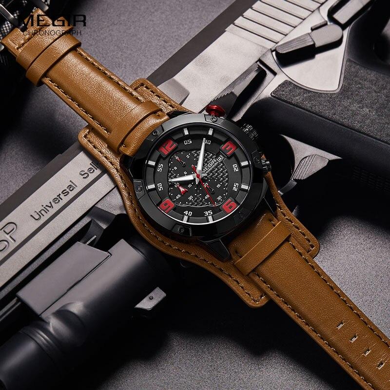 ¡Novedad de 2019! reloj de pulsera de cuarzo analógico de estilo militar a prueba de agua para hombre