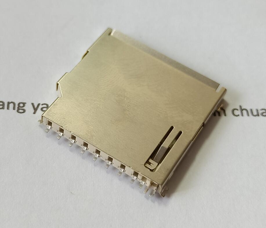 MMC/SD مقبس بطاقات الذاكرة حامل مقعد فتحة طويلة الجسم