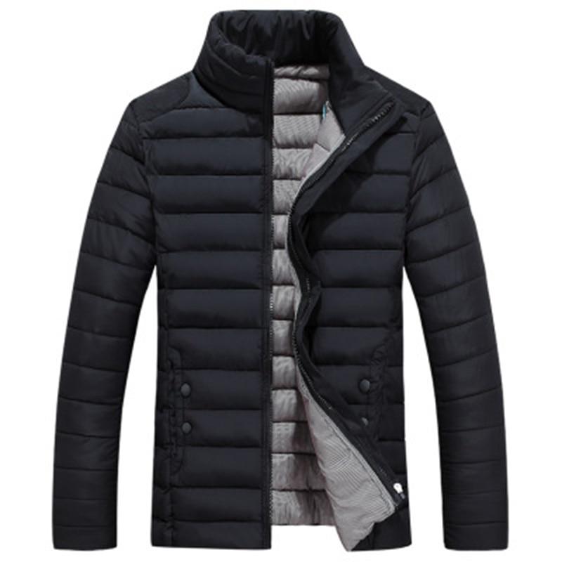 Men Autumn Winter Plus Size Cotton Coats Stand Collar Short Thicken Warm Cotton Jackets Male Casual Loose Cotton Coats FP1193