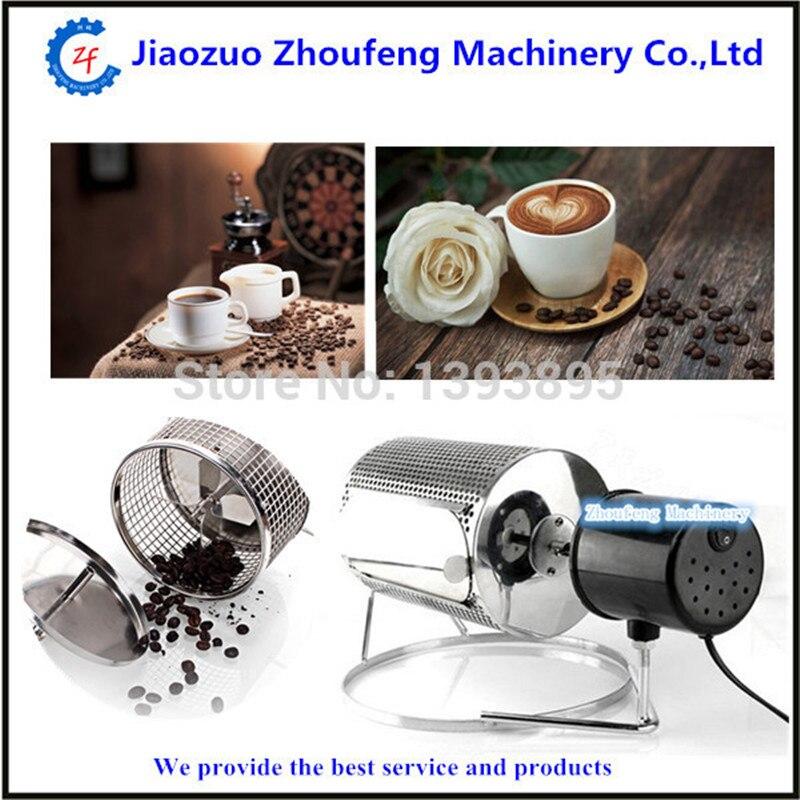 Máquina de café torrador elétrico uso doméstico de aço inoxidável café torrador de feijão cozimento nozes sementes 110 v or220v ZF