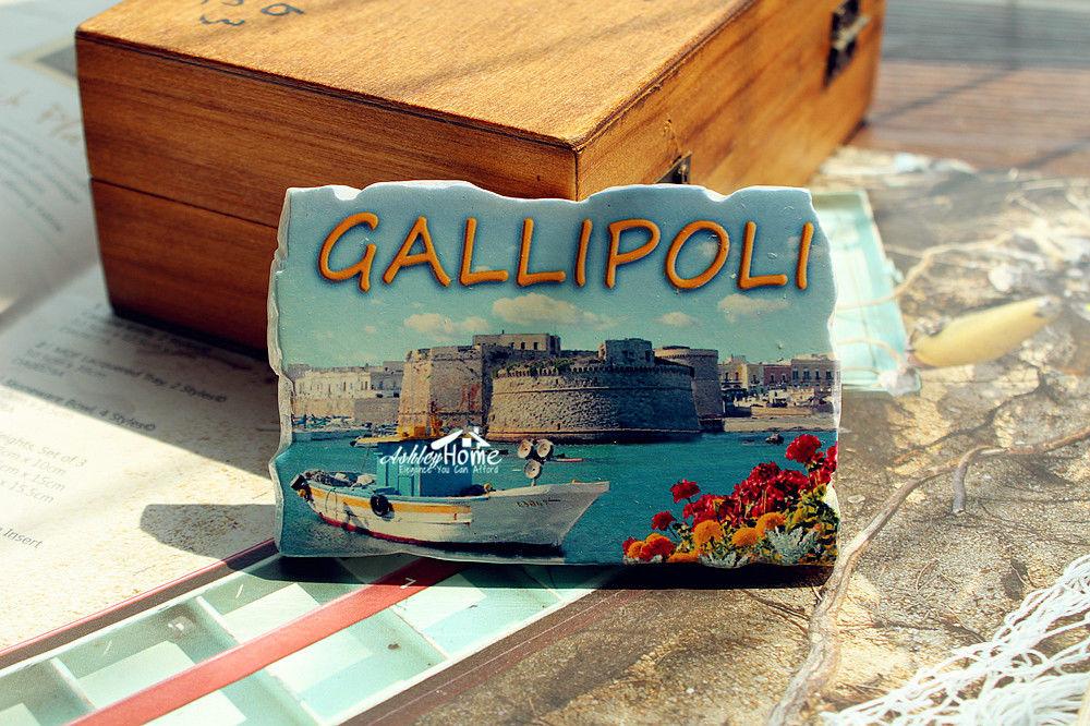 GALLIPOLI, Turquía recuerdo de viaje turístico 3D resina nevera imán artesanía regalo IDEA