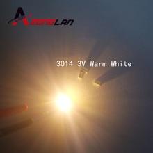 50 sztuk 3014 SMD LED Chip ciepły biały Ultra jasne 0.1W 10-12LM 30mA 3V do montażu powierzchniowego układu dioda elektroluminescencyjna lampa SMD LED koralik