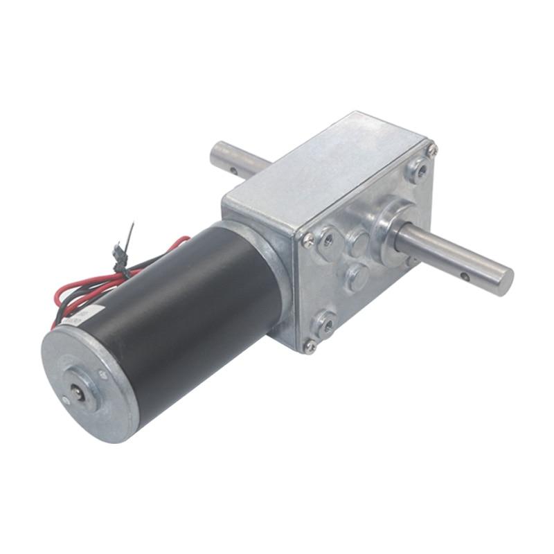 Motor de engranaje de tornillo sin fin de reducción de doble eje, tendedero automático 5840-31zy DC12V 24V 12RPM a 470RPM CW / CCW