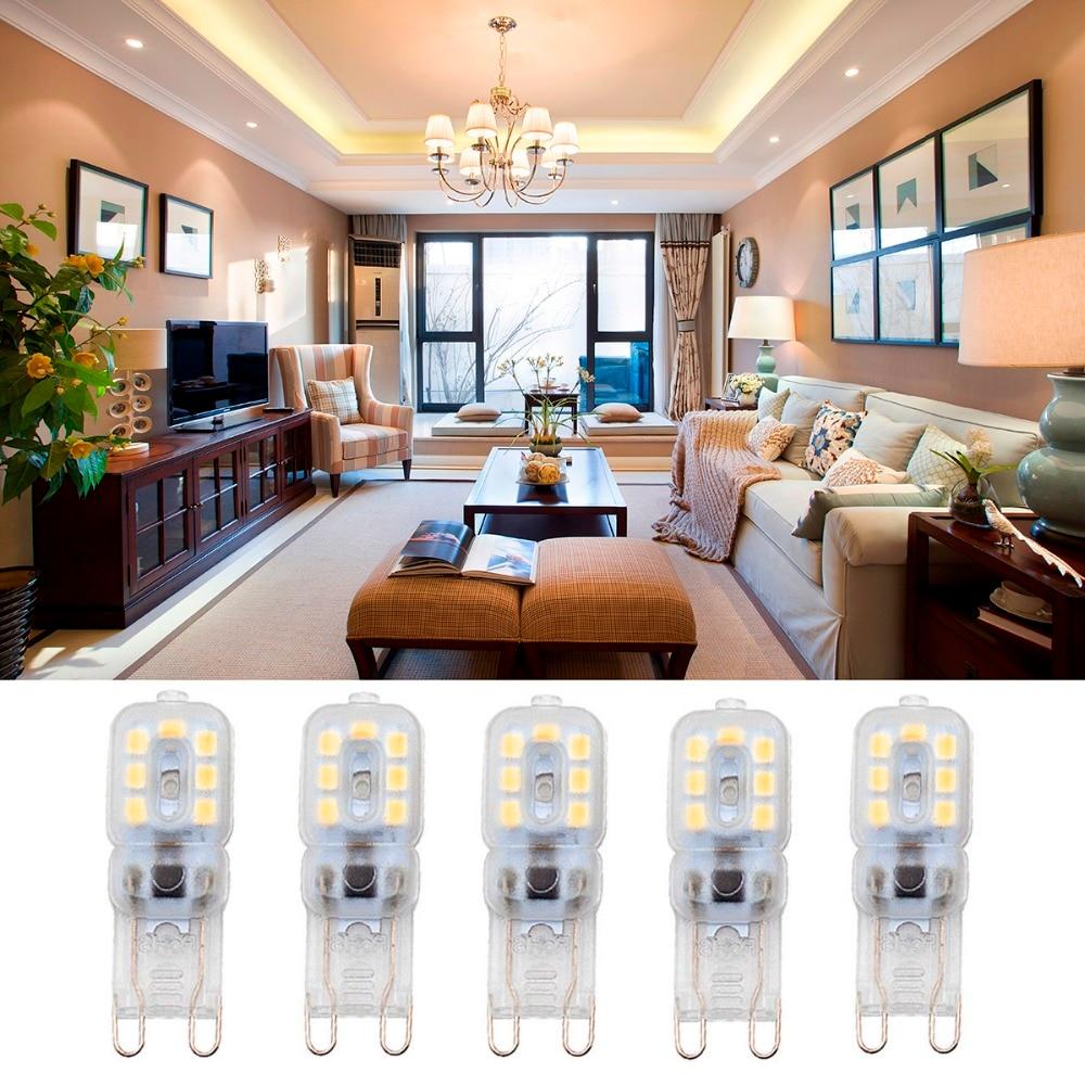5pcs G9 5W AC 220-240V LED Dimmable Capsule Bulb Replace Halogen Light Bulb Lamps
