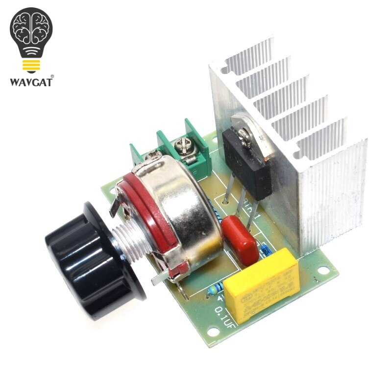 Hot Voltage Regulator Voltage Speed Controller AC 220V 4000W SCR Dimmer