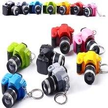 2019 LED كاميرات سيارة سلسلة مفاتيح اللعب الصوت متوهجة قلادة دمية الهدايا كاميرات تضيء اللعب المفاتيح كاميرا