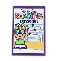 103 Pages  English Exercise Reading Passages Book Training Practice Book Educational Kids Games for Children Book