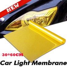 30cm x 60cm Auto faro luz trasera película de vinilo tintado fáciles de pegar motocicleta decoración completa del coche 12 colores