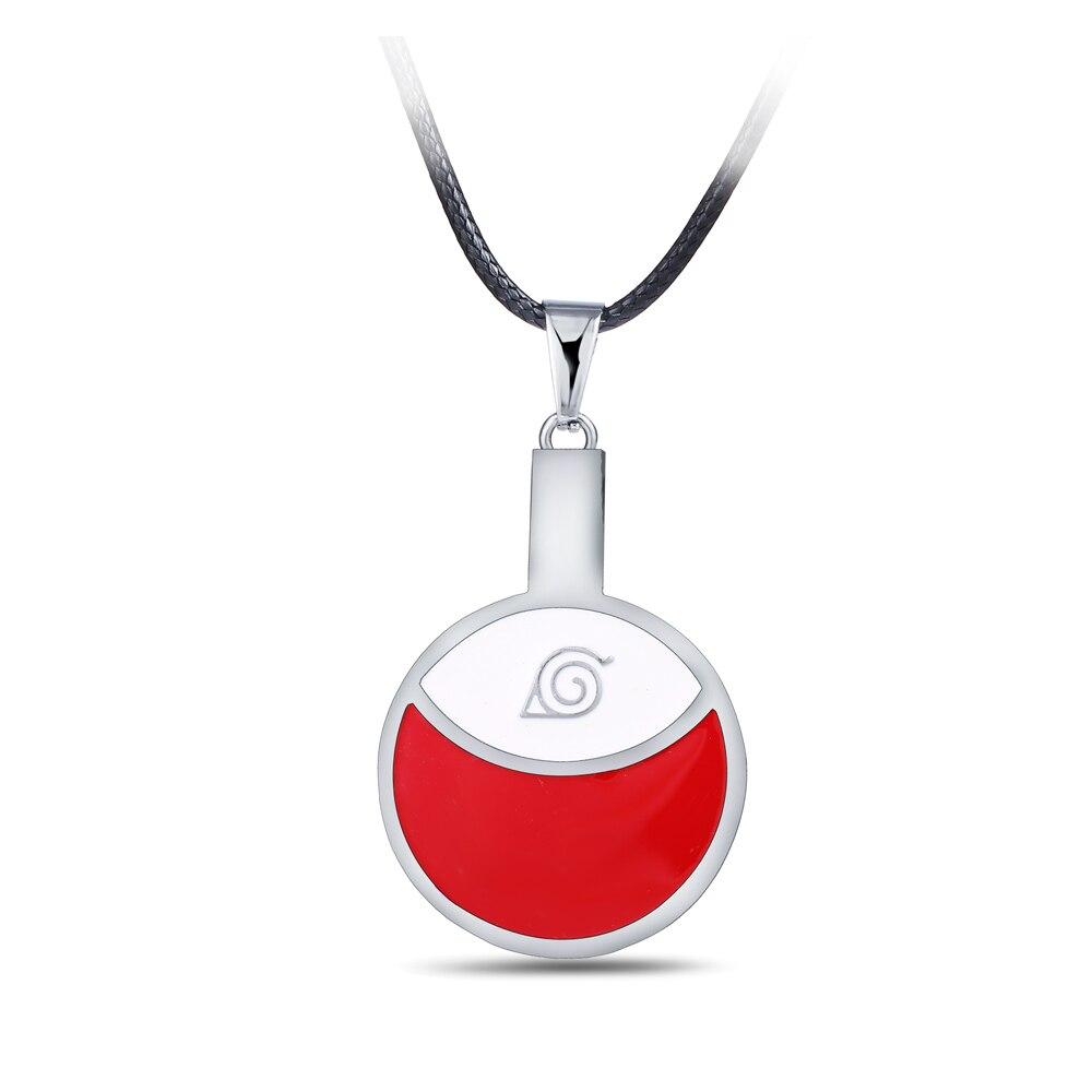 2020 joyería de cosplay de moda Anime Naruto que rodea el Uchiha familia Clan insignia aleación colgante joyería collar